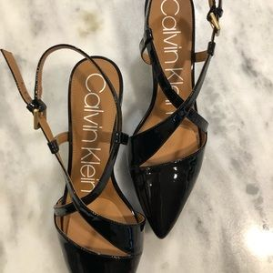 Calvin Klein Shoes - CALVIN KLEIN 'paula' pointed toe sling backs